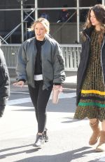 HILARY DUFF and SUTTON FOSTER on the Set of Younger in New York 03/11/2019