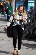 HILARY DUFF on the Set of Younger in New York 03/07/2019