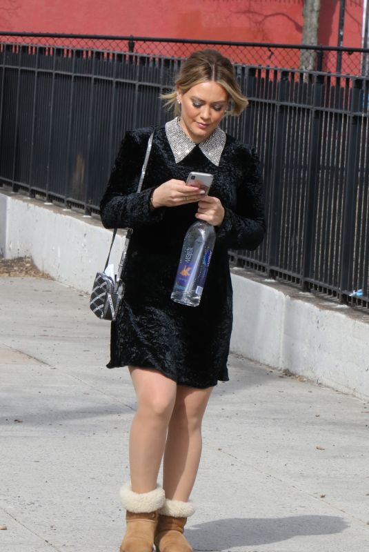 HILARY DUFF on the Set of Younger in New York 03/15/2019