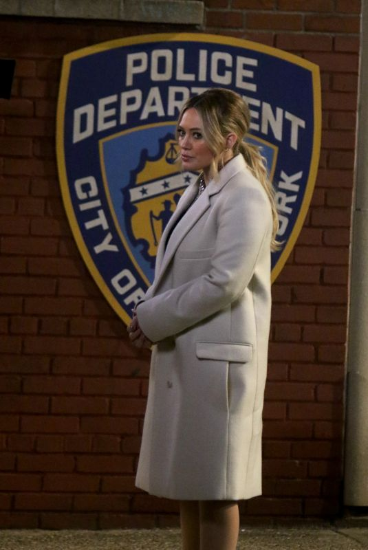 HILARY DUFF on the Set of Younger in New York 03/28/2019