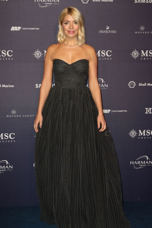 HOLLY WILLOGHBY at MSC Belissima Cruise Ship Launch in Southampton 03/02/2019