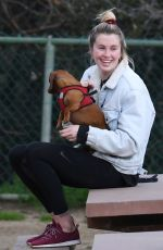 IRELAND BALDWIN at a Dog Park in Hollywood Hills 03/13/2019
