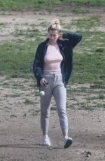 IRELAND BALDWIN Out with Her Dog in Santa Monica 03/10/2019