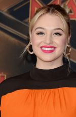 ISKRA LAWRENCE at Captain Marvel Premiere in Hollywood 03/04/2019