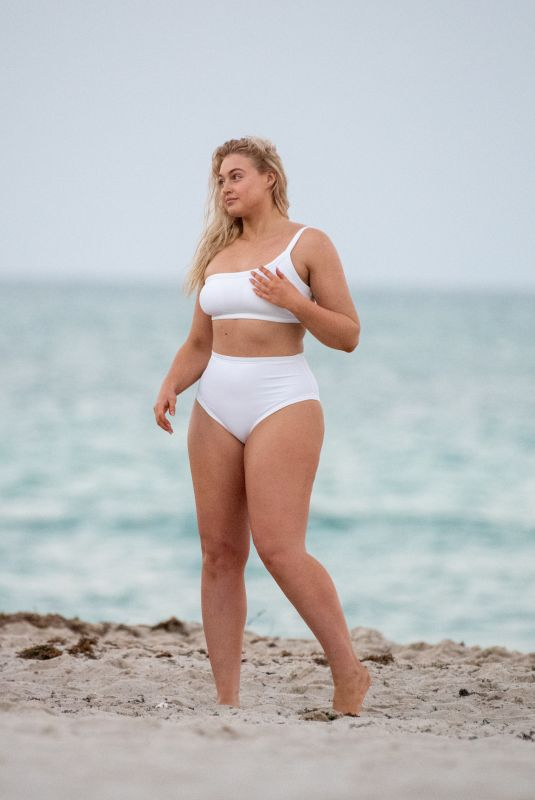 ISKRA LAWRENCE in Bikinis at a Photoshoot in Miami 03/25/2019