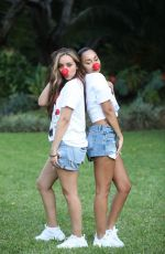 JADE THIRLWALL and LEIGH-ANNE PINOCK for Red Nose Day in Arusha 02/22/2019