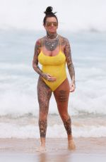 JEMMA LUCY in Swiumsuit at a Beach in Sydney 02/28/2019