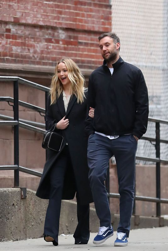 JENNIFER LAWRENCE and Cooke Maroney Out and About in New York 03/25/2019