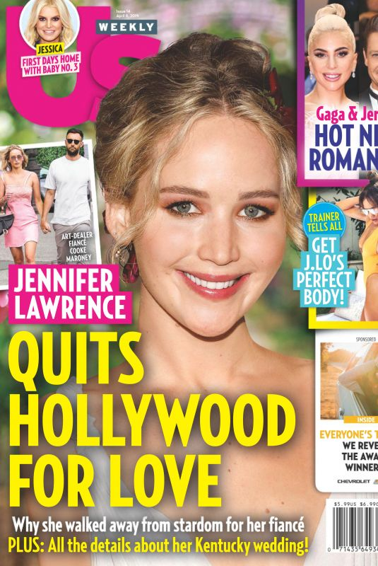 JENNIFER LAWRENCE in US Weekly Magazine, April 2019
