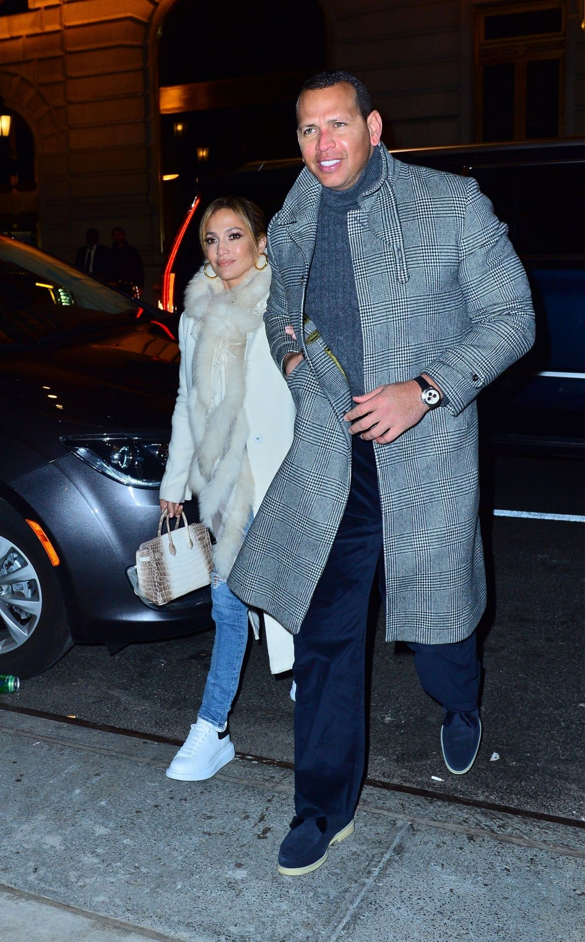 JENNIFER LOPEZ and Alex Rodriguez at Polo Bar in New York ...