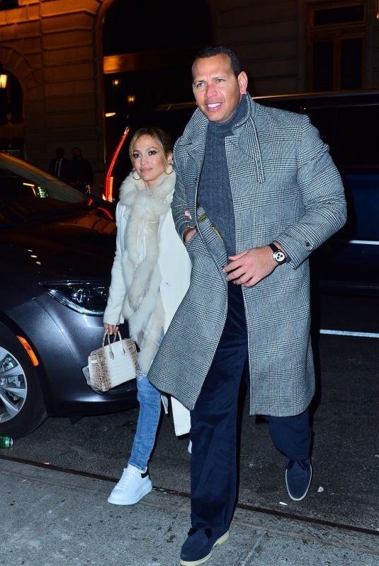 JENNIFER LOPEZ and Alex Rodriguez at Polo Bar in New York 03/17/2019