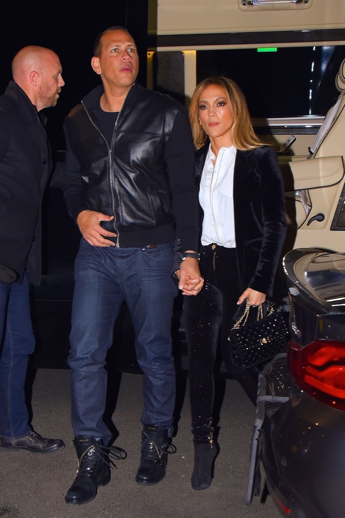 JENNIFER LOPEZ and Alex Rodriguez Out for Dinner in New ...