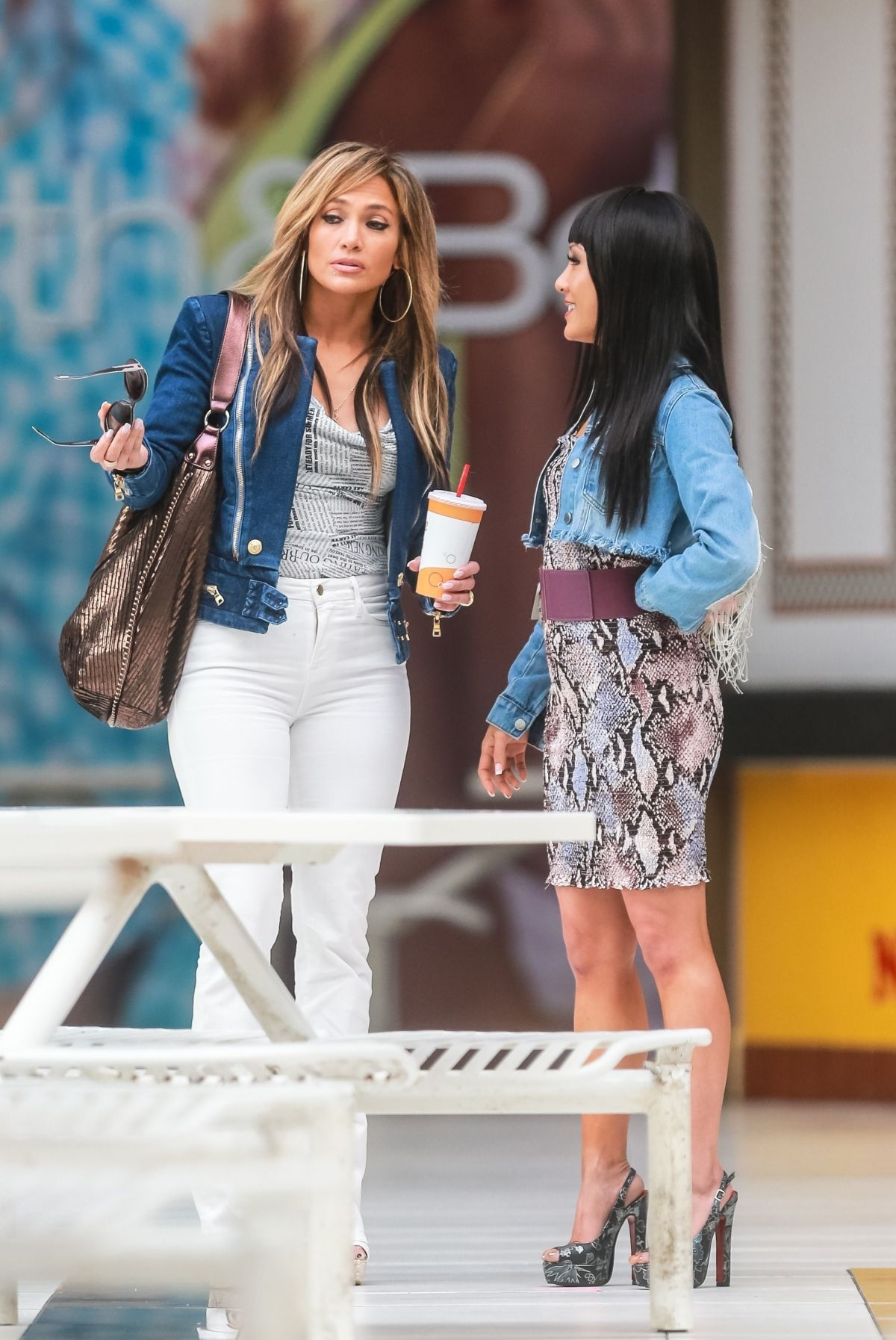 JENNIFER LOPEZ and CONSTANCE WU on the Set of Hustlers in New York 03/26/2019 - HawtCelebs