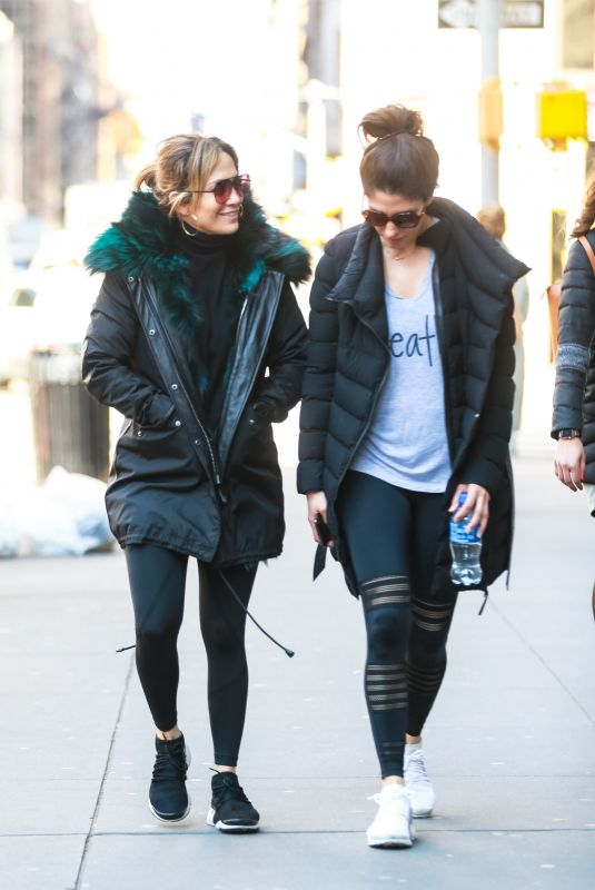 JENNIFER LOPEZ and Her Sister Lynda Heading to a Gym in New York 03/18/2019
