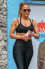 JENNIFER LOPEZ in Tights at a Gym in Miami 03/15/2019