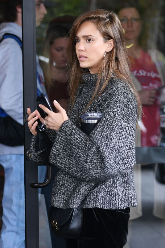 JESSICA ALBA Out for Lunch at Roosevelt Hotel in Los Angeles 03/11/2019