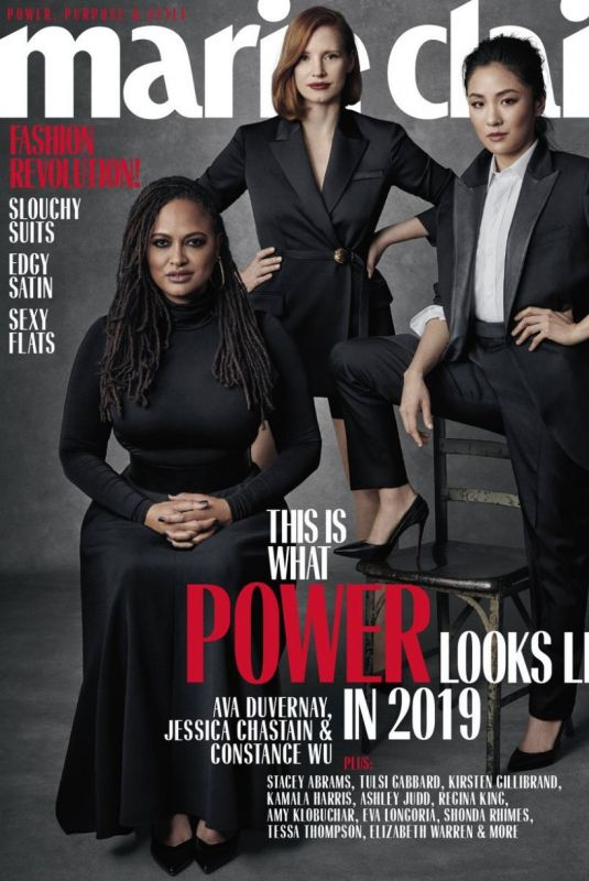 JESSICA CHASTAIN, AVA DUVERNAY and CONSTANCE WU in Marie Claire Magazine, April 2019