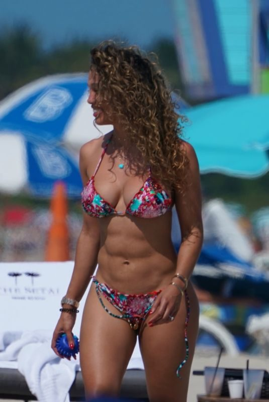 JESSICA LEDON in Bikini at a Beach in Miami 03/13/2019