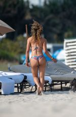 JESSICA LEDON in Bikini on the Beach in Miami 03/13/2019