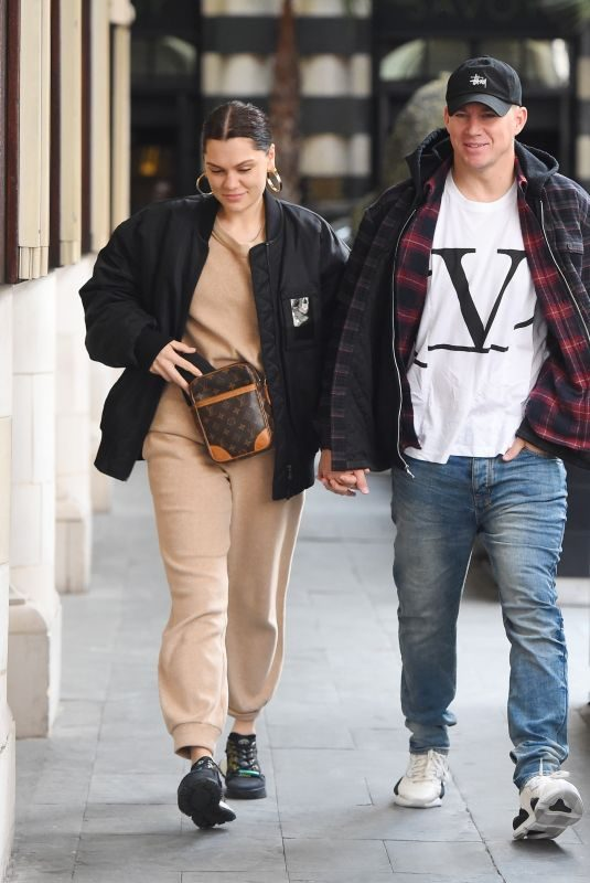 JESSIE J and Channing Tatum Out in London 03/14/2019