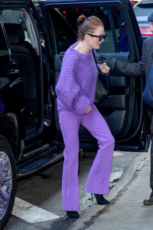 JULIANNE MOORE Arrives at Good Morning America in New York 03/05/2019