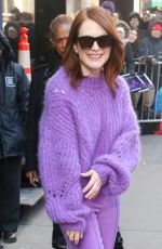 JULIANNE MOORE Leaves Good Morning America in New York 03/05/2019