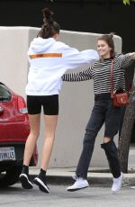 KAIA GERBER and CHARLOTTE LAWRENCE Out in Brentwood 03/11/2019