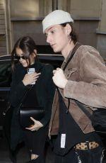 KAIA GERBER and Wellington Grant Arrives at Le Cinq Codet Hotel in Paris 02/27/2019