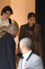 KAIA GERBER and Wellington Grant Leaves Their Hotel in Paris 02/28/2019