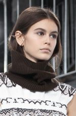 KAIA GERBER at Sacai Runway Show at Paris Fashion Week 03/04/2019