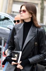 KAIA GERBER Heading to Givenchy Fitting in Paris 03/03/2019
