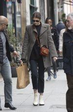 KAIA GERBER Out Shopping in Paris 02/28/2019