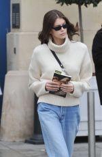 KAIA GERBER Out Shopping in Paris 03/02/2019