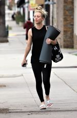 KALEY CUOCO Leaves Yoga Class in Studio City 03/11/2019