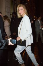 KARLIE KLOSS at Off-white Party in Paris 02/28/2019