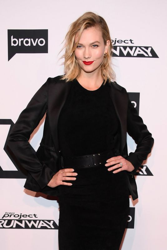 KARLIE KLOSS at Project Runway Premiere in New York 03/07/2019