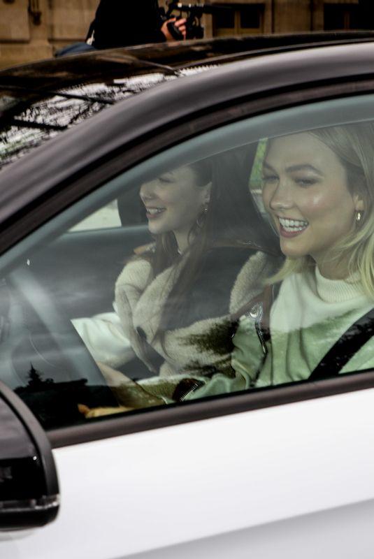 KARLIE KLOSS Driving an Car Out in Paris 03/05/2019