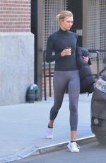 KARLIE KLOSS in Leggings Leaves a Gym in New York 03/12/2019
