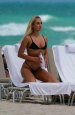 KATARINA ELLE ZARUTSKIE in Bikini at a Beach in Miami 03/16/2019