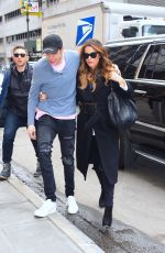 KATE BECKINSALE and Pete Davidson Arrives at NY Rangers Game in New York 03/03/2019