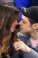 KATE BECKINSALE and Pete Davidson Kissing at NY Rangers Game 03/03/2019