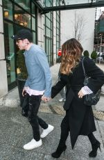 KATE BECKINSALE and Pete Davidson Leaves Madison Square Garden in New York 03/03/2019