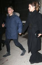 KATE BECKINSALE and Stephen Simbari Night Out in New York 02/28/2019