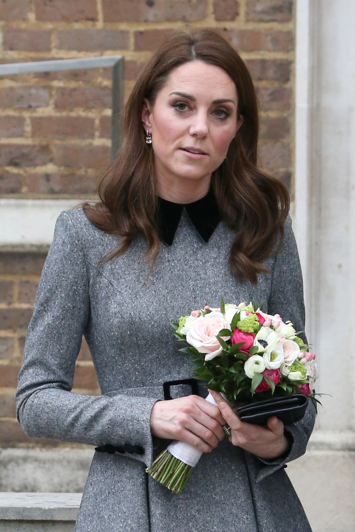 KATE MIDDLETON Arrives at King's College in London 03/19 ...
