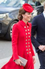 KATE MIDDLETON at Westminster Bbbey for Commonwealth Service 2019 in London 03/11/2019