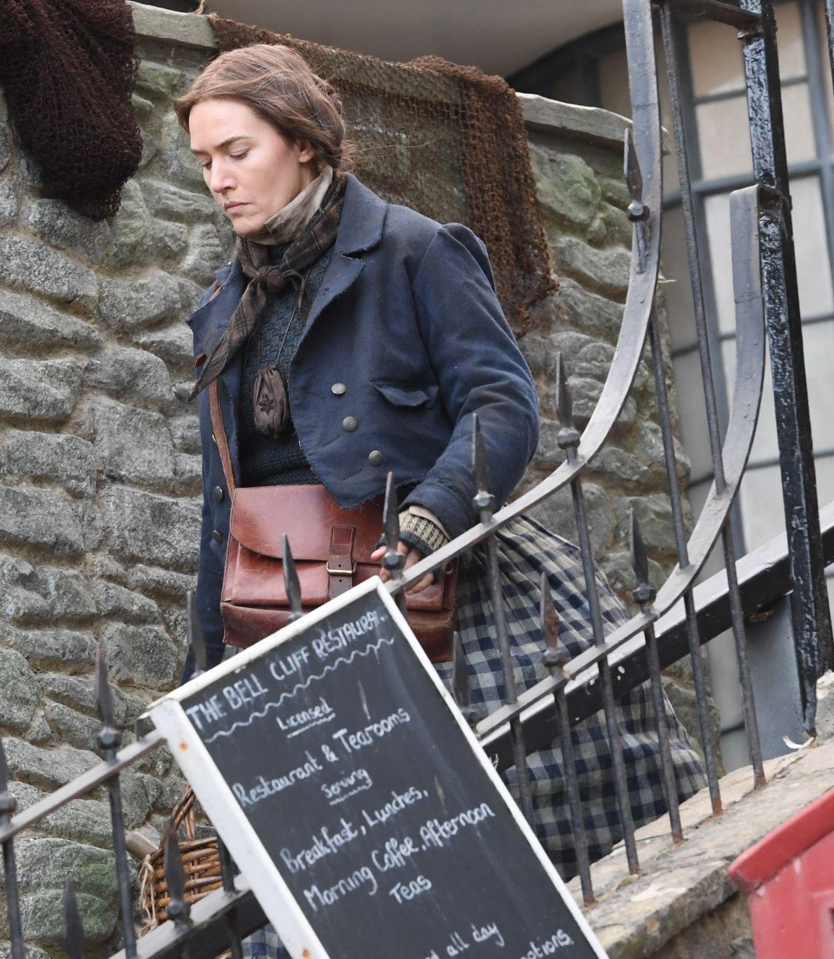 KATE WINSLET on the Set of Ammonite in Lyme Regis 03/11 ...