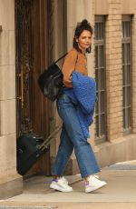 KATIE HOLMES Leaves Her Apartment in New York 03/15/2019