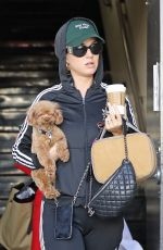 KATY PERRY Shows off Her New Engagement Ring Out in Beverly Hills 03/03/2019