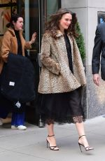 KEIRA KNIGHTLEY Leaves Her Hotel in New York 03/12/2019