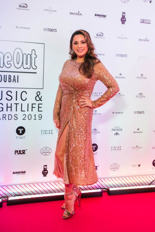 KELLY BROOK at Time Out Dubai Music & Nightlife Awards in Dubai 03/27/2019